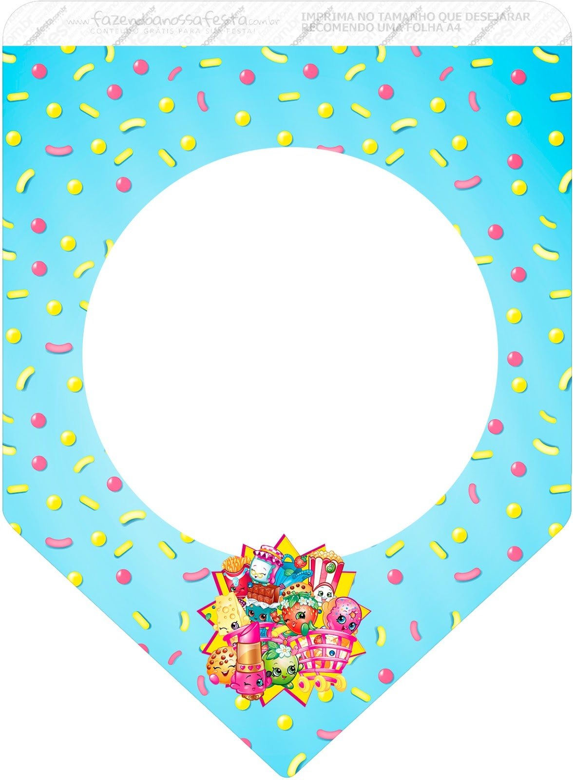 Shopkins: Free Party Printables. - Oh My Fiesta! In English - Shopkins Banner Printable Free