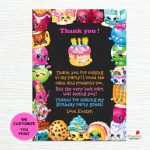 Shopkins Thank You Cards Shopkins Birthday Thank You Notes | Etsy   Free Printable Shopkins Thank You Cards