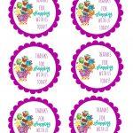 Shopkins Thank You Labels Via Mandy's Party Printables | Free   Free Printable Shopkins Thank You Cards