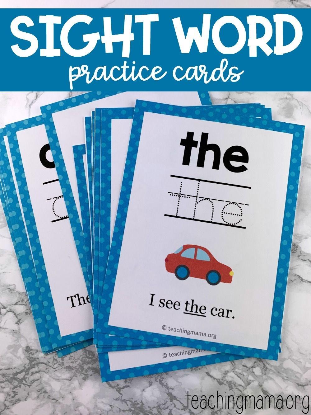 Sight Word Practice Cards | Snap Words | Educação - Free Printable Snapwords