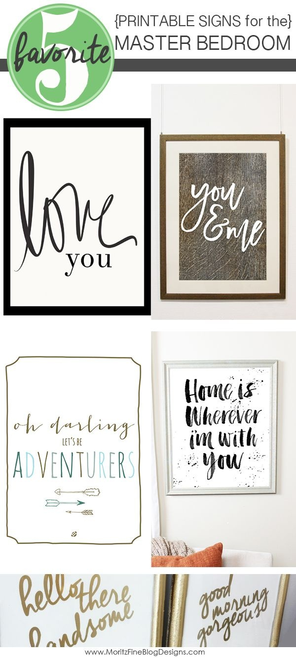 Signs For The Master Bedroom | Free Printables | Home Decor, Bedroom - Free Printable Bedroom Door Signs