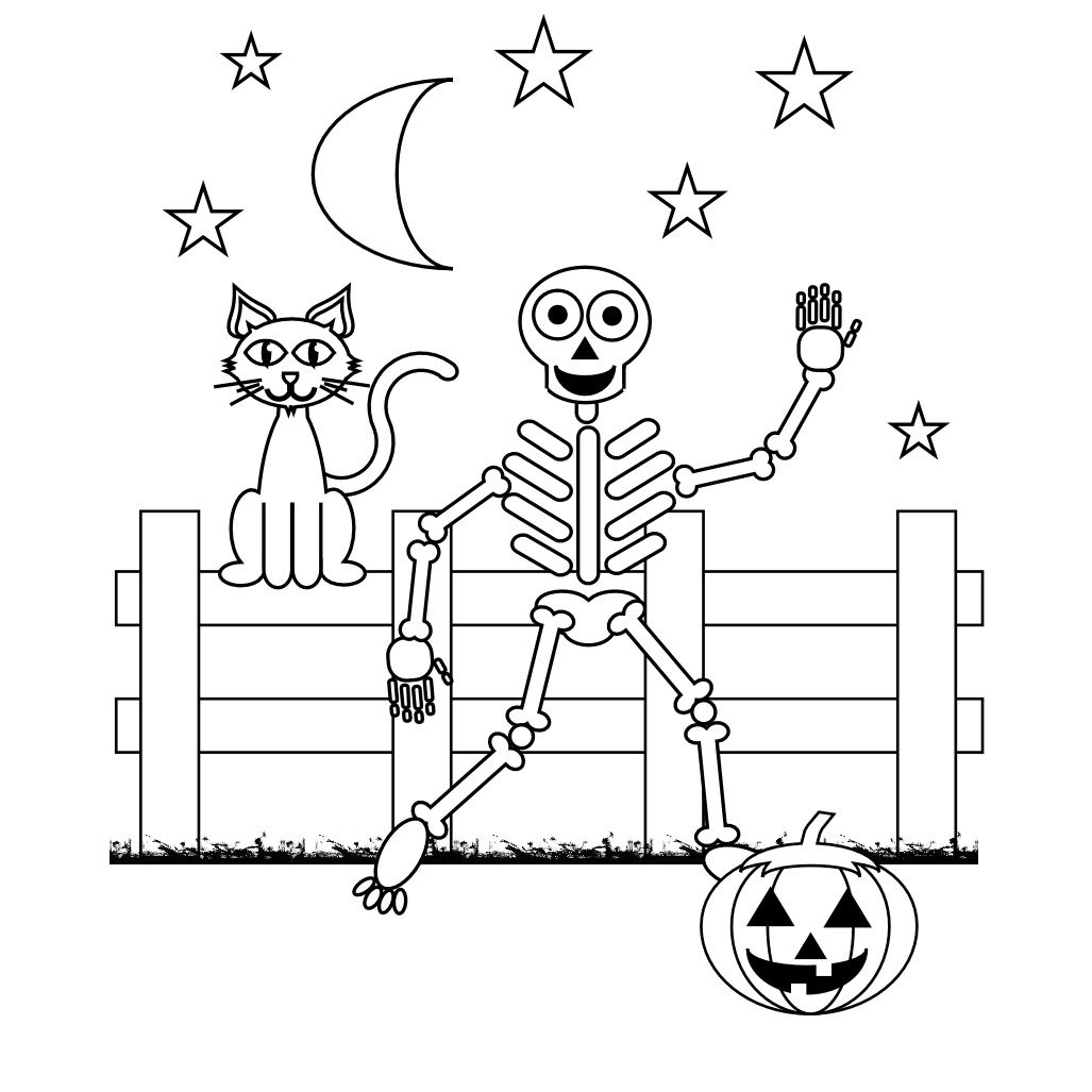 Skeleton Coloring Pages | Halloween | Halloween Coloring Pages - Free Printable Skeleton Coloring Pages