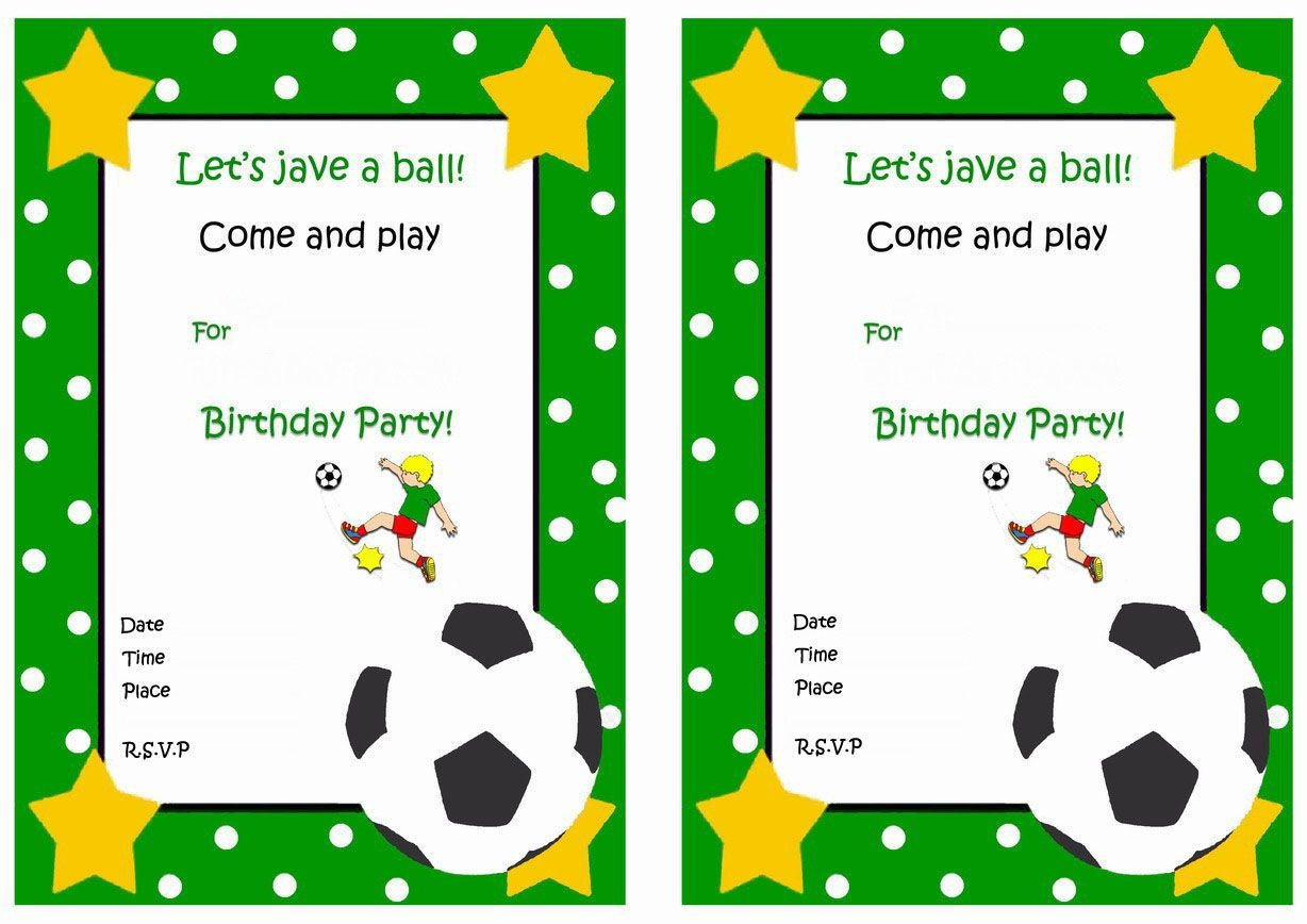 Soccer Free Printable Birthday Party Invitations | Birthday Party - Free Printable Soccer Birthday Invitations