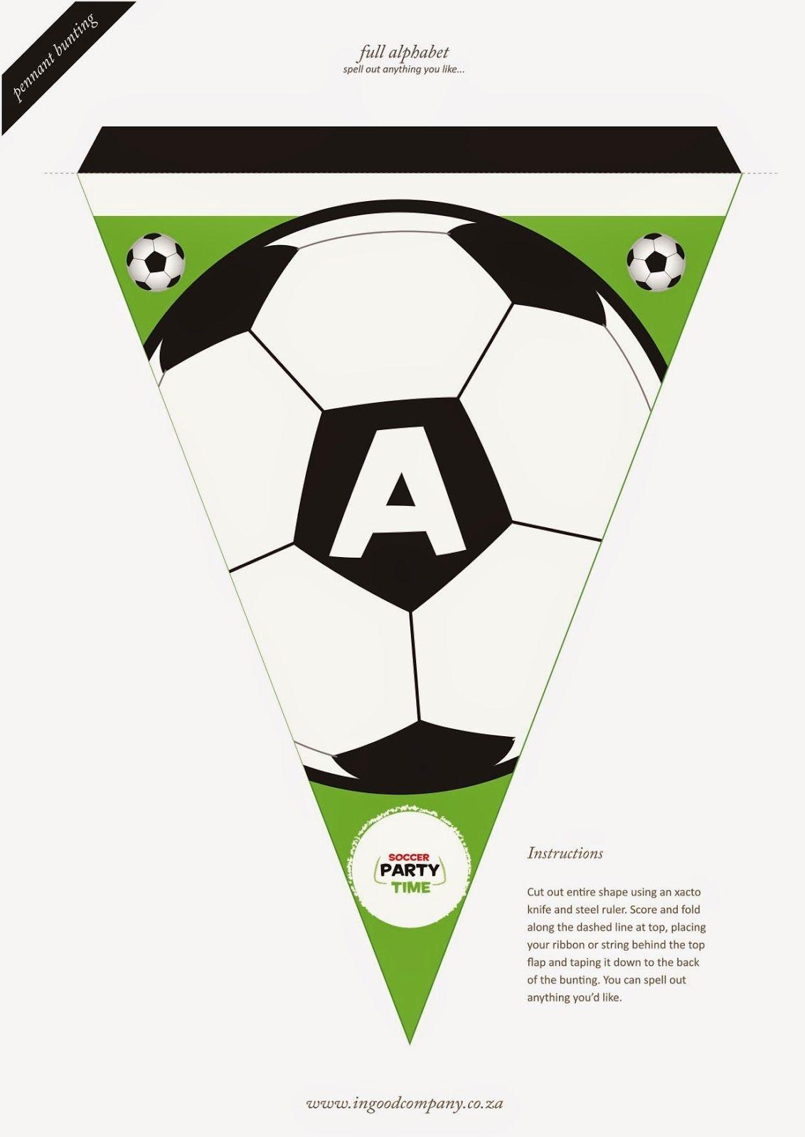 Soccer Letter Bunting - Free Printable | Soccer Party | Soccer - Free Printable Soccer Birthday Invitations