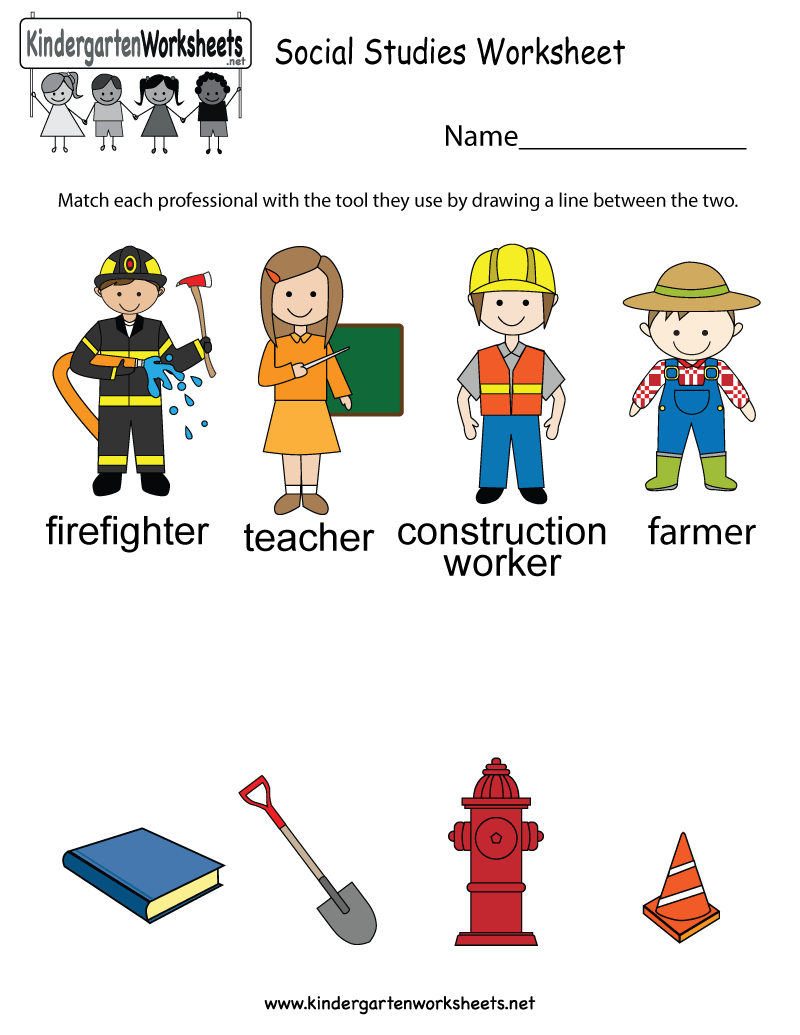 Social Studies Worksheet - Free Kindergarten Learning Worksheet For Kids - Social Studies Worksheets First Grade Free Printable