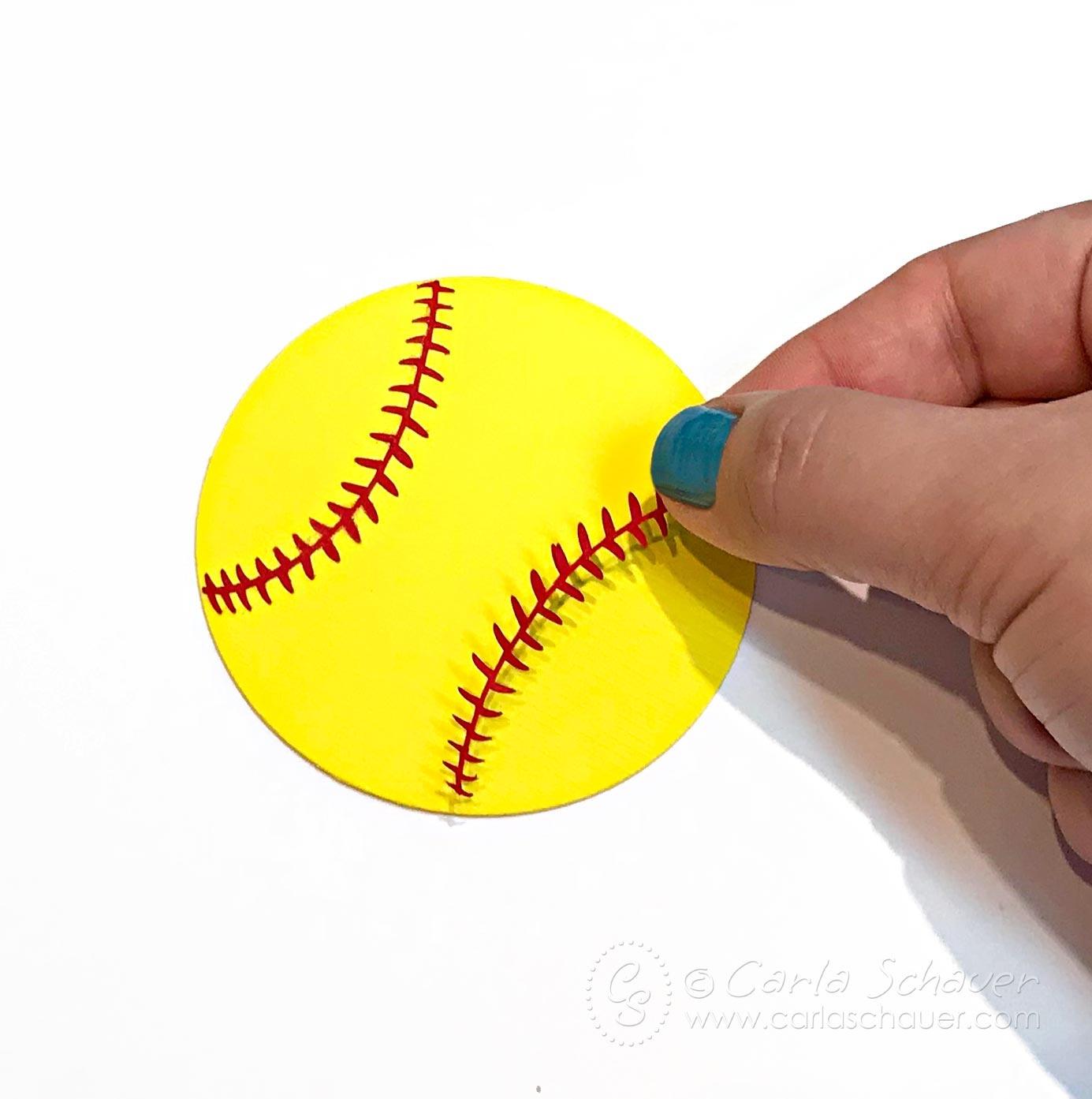 Softball Craft: Make A Softball Bag Tag | Carla Schauer Designs - Free Printable Softball Images