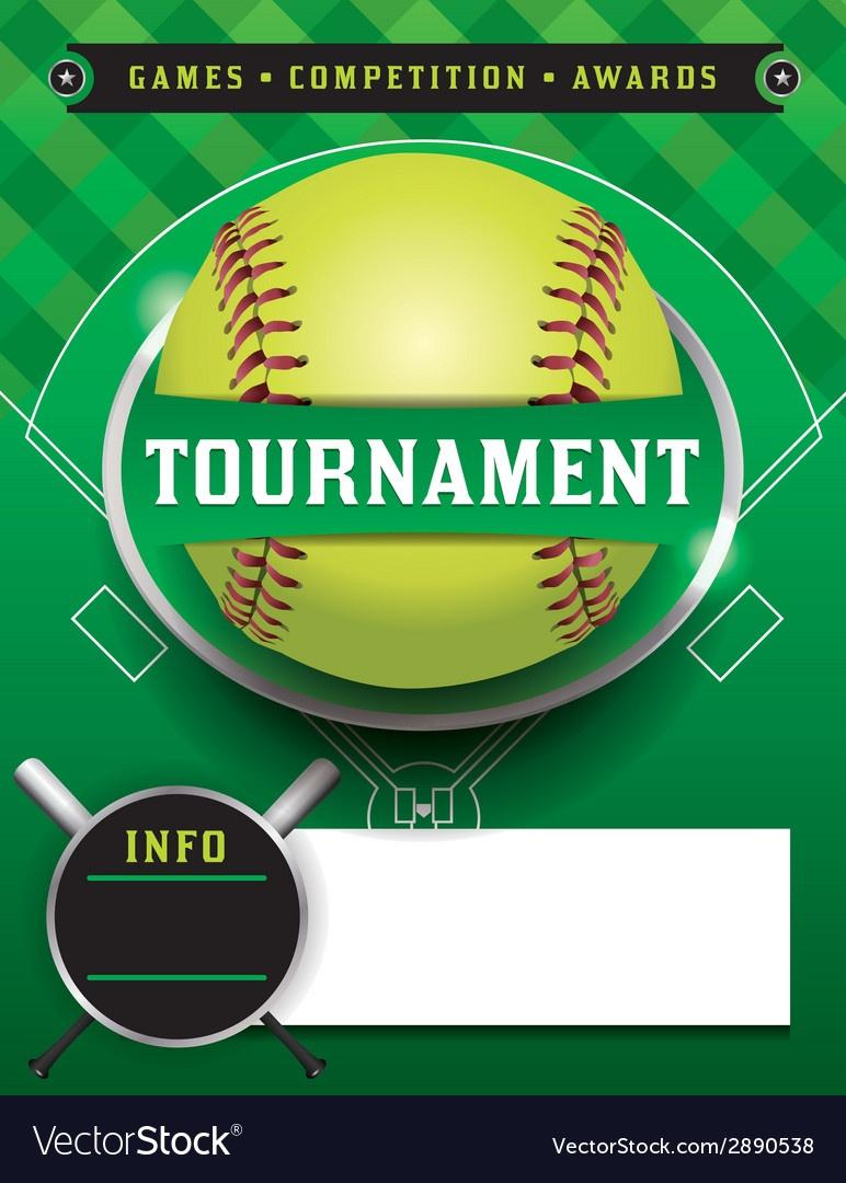 Softball Tournament Template Royalty Free Vector Image - Free Printable Softball Images