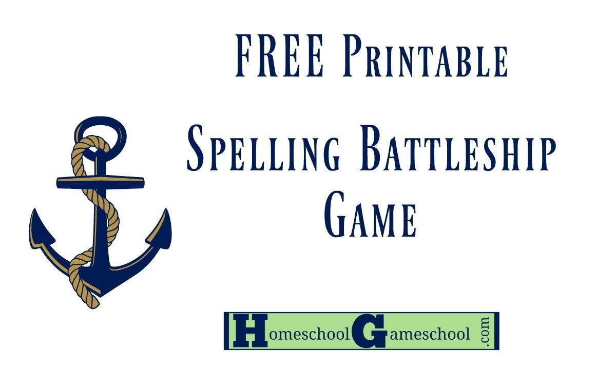 Spelling Battleship Free Game Download » Homeschool Gameschool - Free Printable Battleship Game