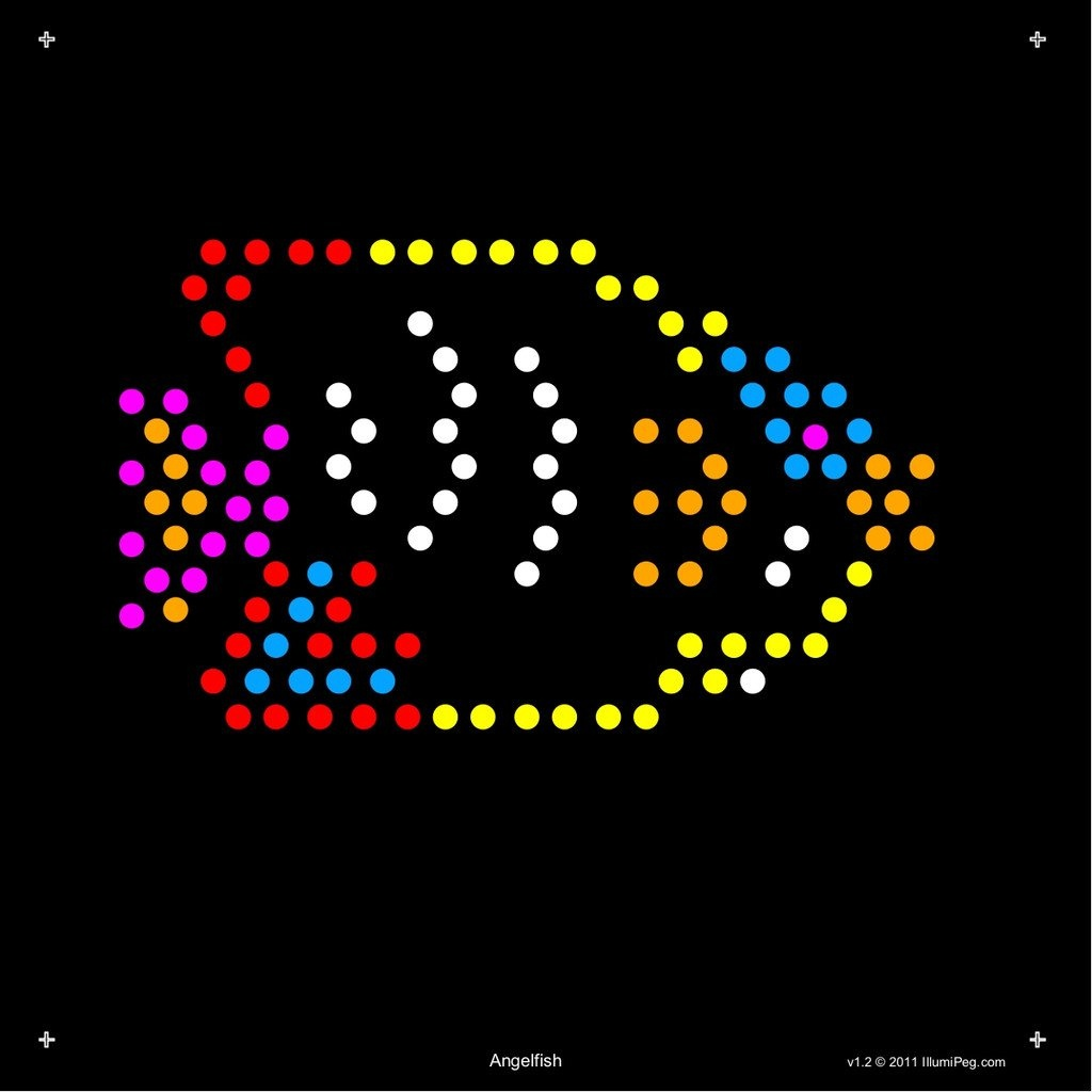 Square Lite Brite Design Refills: Under The Sea | My Ebay Store - Lite Brite Printable Patterns Free