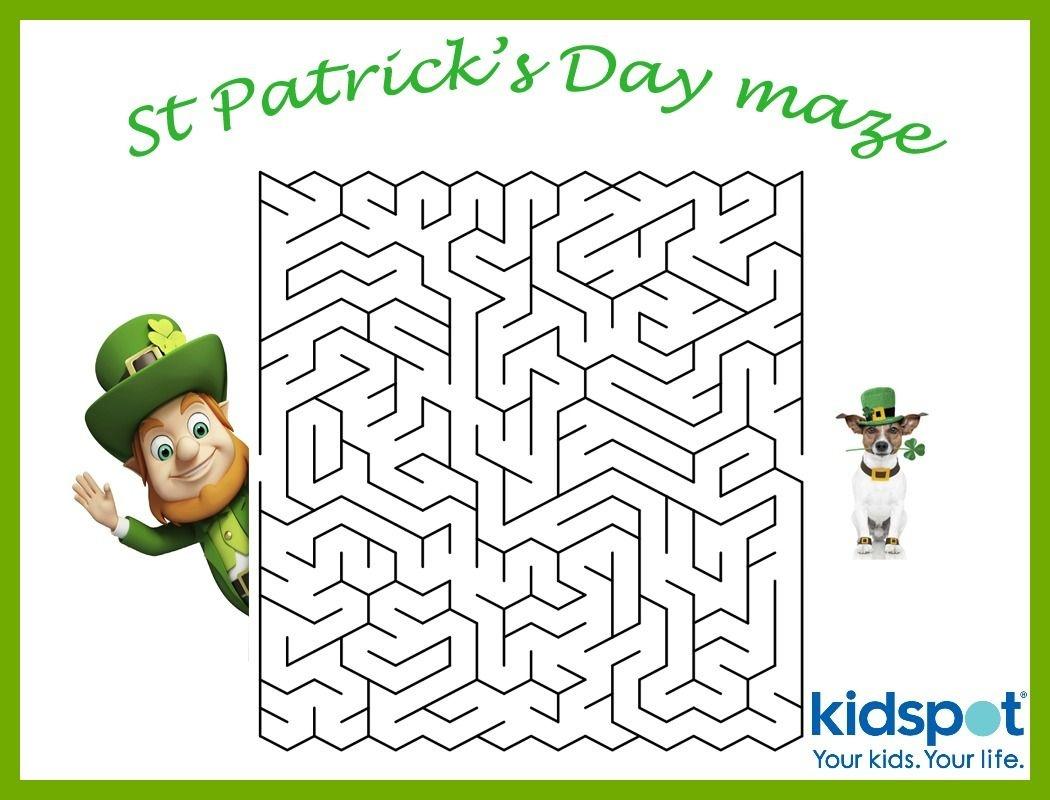 St Patrick's Day - Mazes - Free Printable   St. Patrick's Day - Free Printable St Patrick's Day Mazes