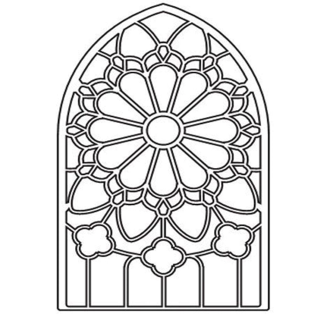 Stained Glass Window Coloring Pages Download And Print For Free - Free Printable Religious Stained Glass Patterns