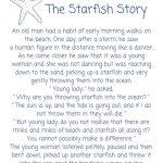Starfish Poemloren Eiseley The Starfish Story Printable | Etsy - Starfish Story Printable Free