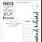 Start A Prayer Journal For More Meaningful Prayers: Free Printables!!!   Free Printable Prayer Journal