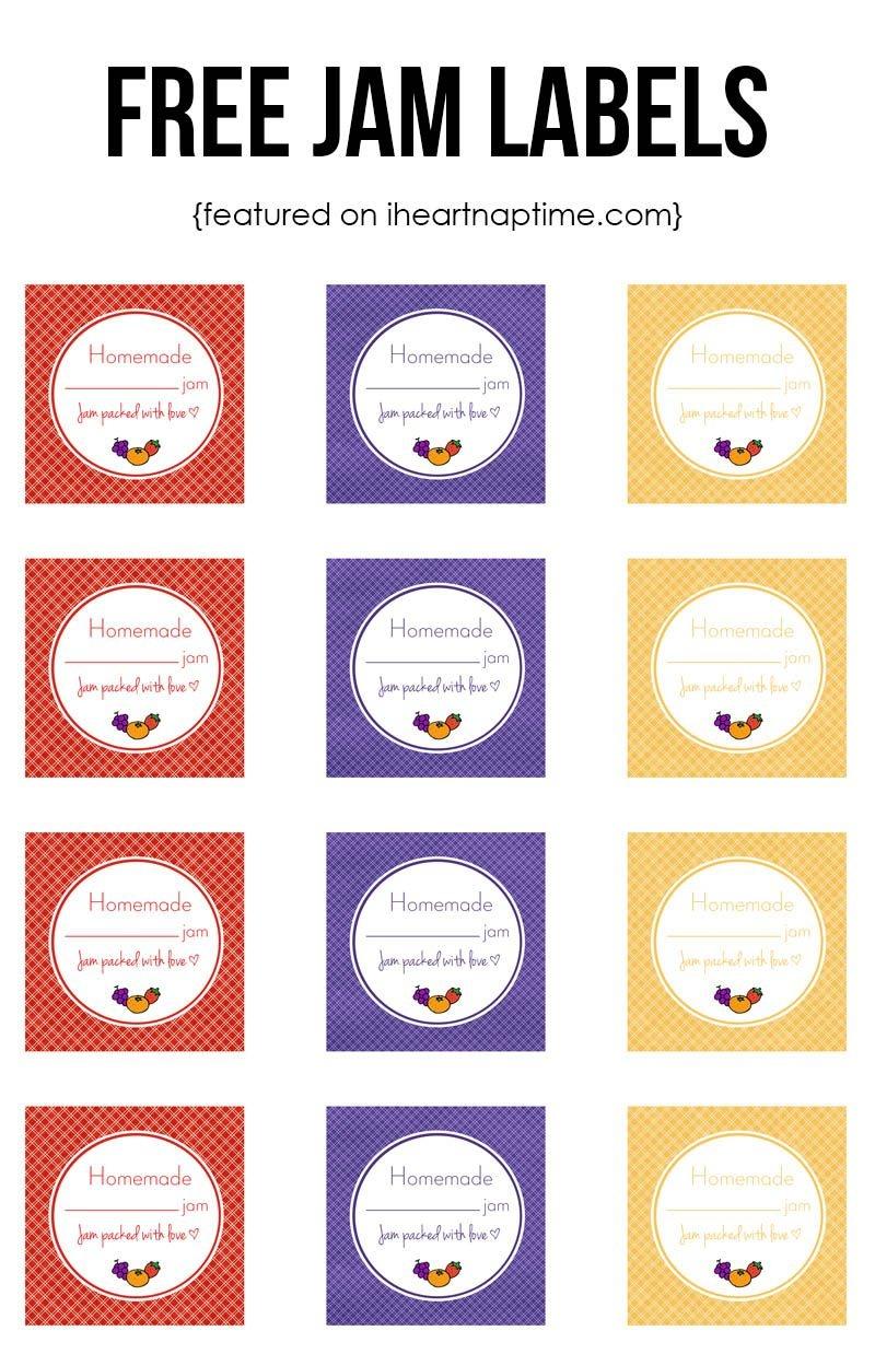 Strawberry Jam | Recipe | Pins I Love | Homemade Strawberry Jam - Free Printable Jam Labels