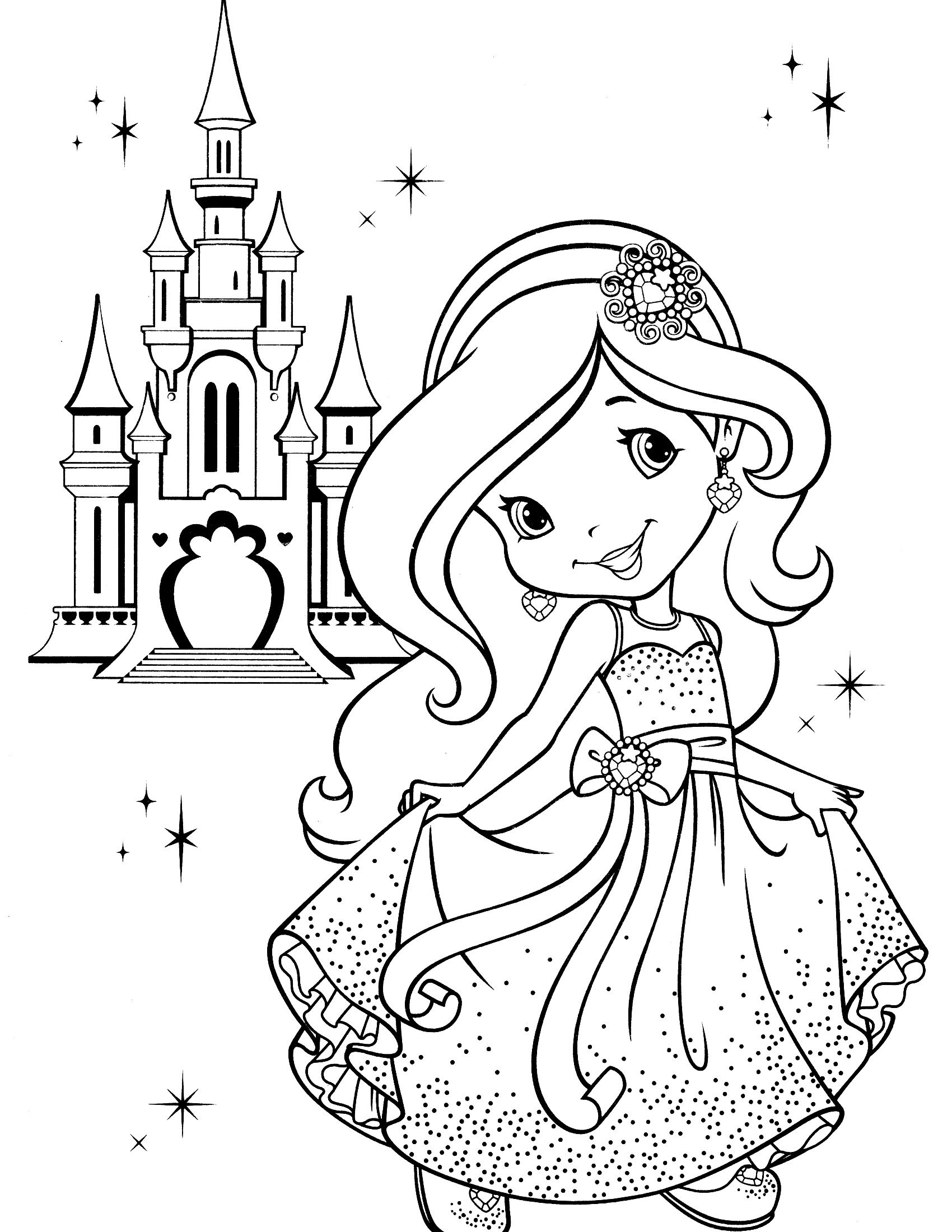Strawberry Shortcake Coloring Page | Kids | Princess Coloring Pages - Strawberry Shortcake Coloring Pages Free Printable