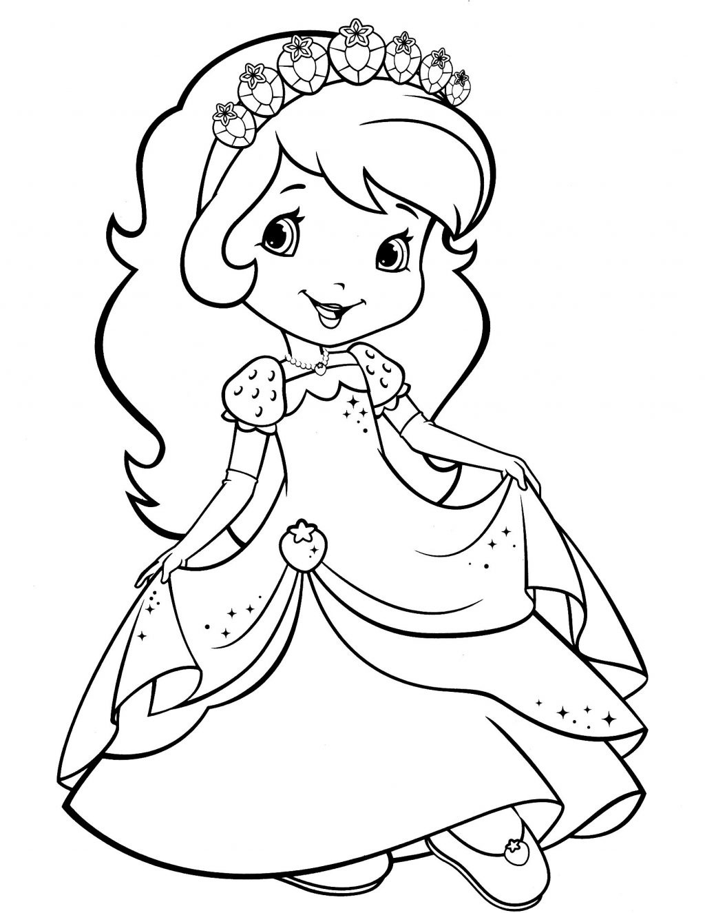 Strawberry Shortcake Coloring Pages Coloring Pages Strawberry - Strawberry Shortcake Coloring Pages Free Printable