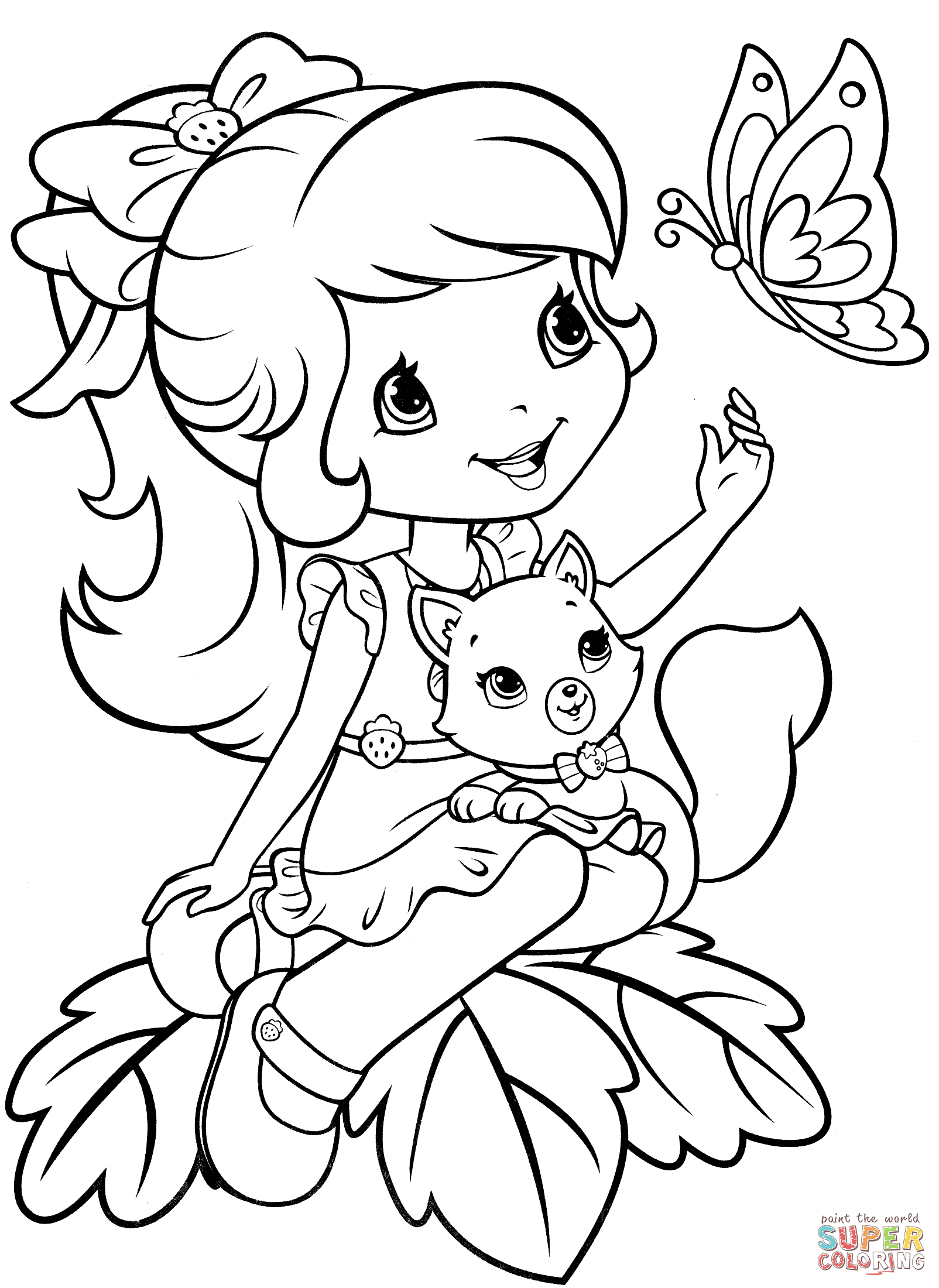 Strawberry Shortcake Coloring Pages | Free Coloring Pages - Strawberry Shortcake Coloring Pages Free Printable