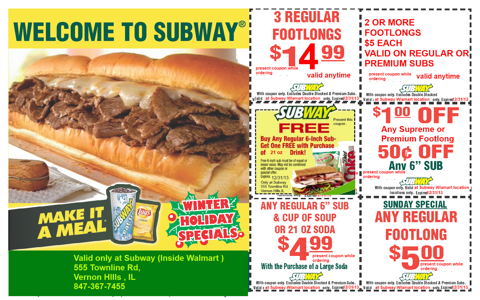 Subway Coupons November 2018 Printable : Harcourt Outlines Coupons - Free Printable Subway Coupons 2017