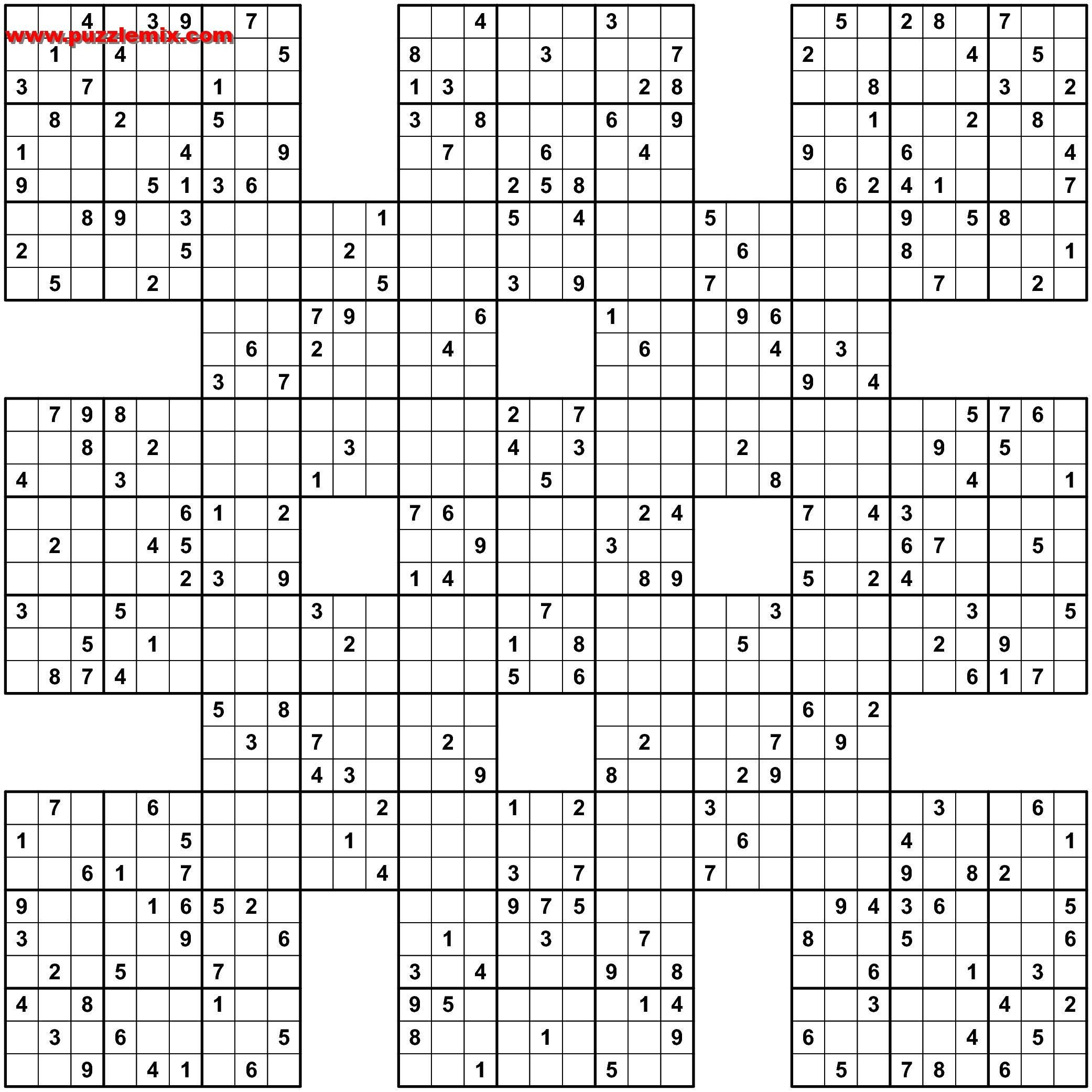 Sudoku 16X16 Printable Free | Free Printable Download - Sudoku 16X16 Printable Free