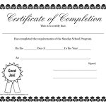 Sunday School Promotion Day Certificates | Sunday School Certificate   Free Printable Children's Certificates Templates