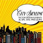 Superhero   City Skyline Vectors   Free Printable Superhero Skyline