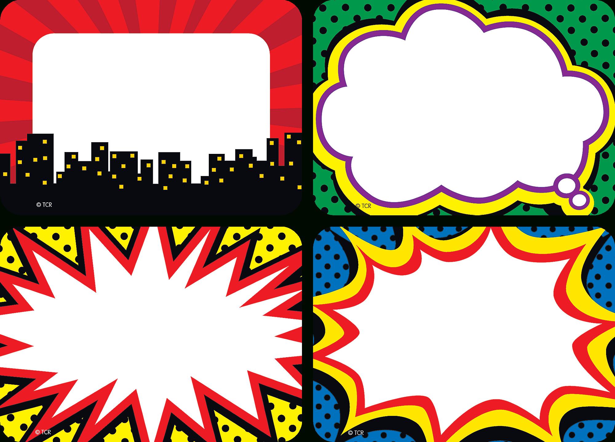 Superhero Name Tags/labels - Multi-Pack | Name Tags And Labels - Superhero Name Tags Free Printable