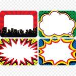 Superhero, Sticker, Label, Transparent Png Image & Clipart Free Download   Superhero Name Tags Free Printable