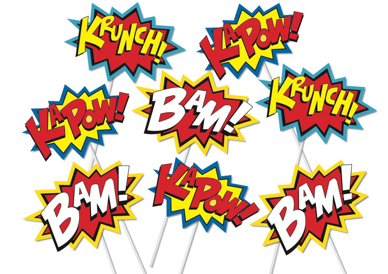 Superhero Words Superman Phrases Clipart - Wikiclipart - Free Printable Superhero Words