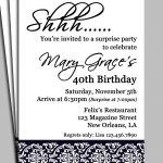 Surprise Birthday Party Invitation Wording For Adults — Birthday   Free Printable Surprise Party Invitation Templates