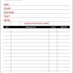 Surprising Free Printable Sales Receipt Template Ideas Forms   Free Printable Blank Receipt Form
