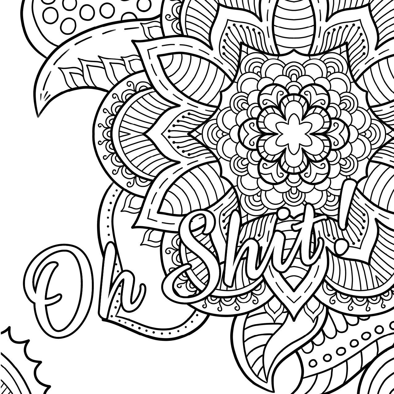 Swear Word Coloring Book #2 Free Printable Coloring Pages For Adults - Swear Word Coloring Pages Printable Free