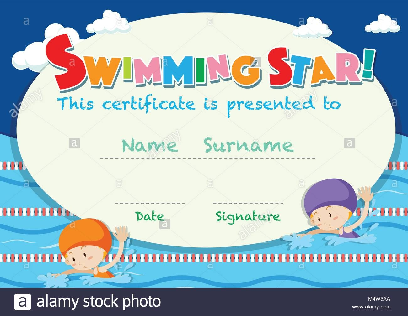 Swimming Certificate - Kaza.psstech.co - Free Printable Swimming Certificates For Kids