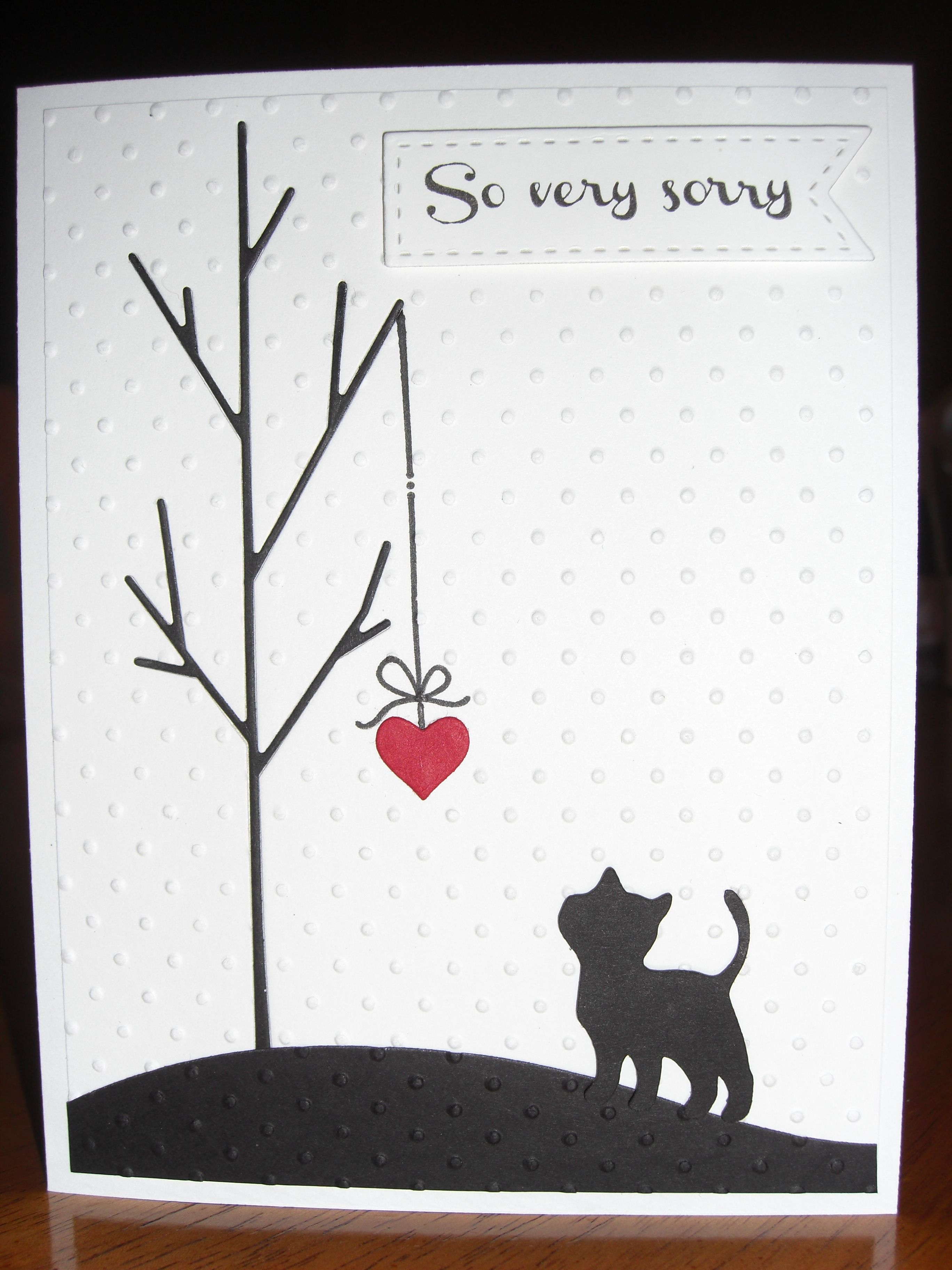 Sympathy Card For Loss Of Family Pet: Simon Says Stamp Tree Die - Free Printable Sympathy Card For Loss Of Pet