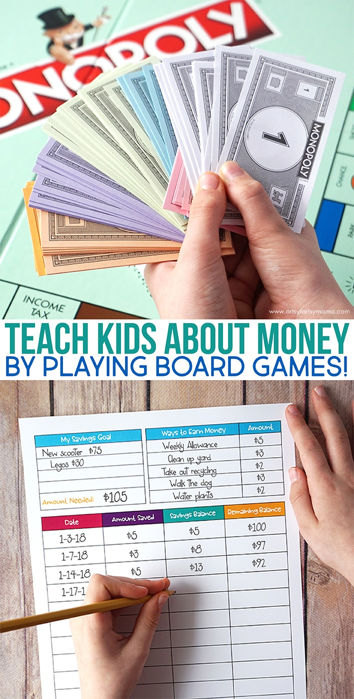 Teach Kids About Money With Board Games | Artsy-Fartsy Mama - Free Printable Money For Kids
