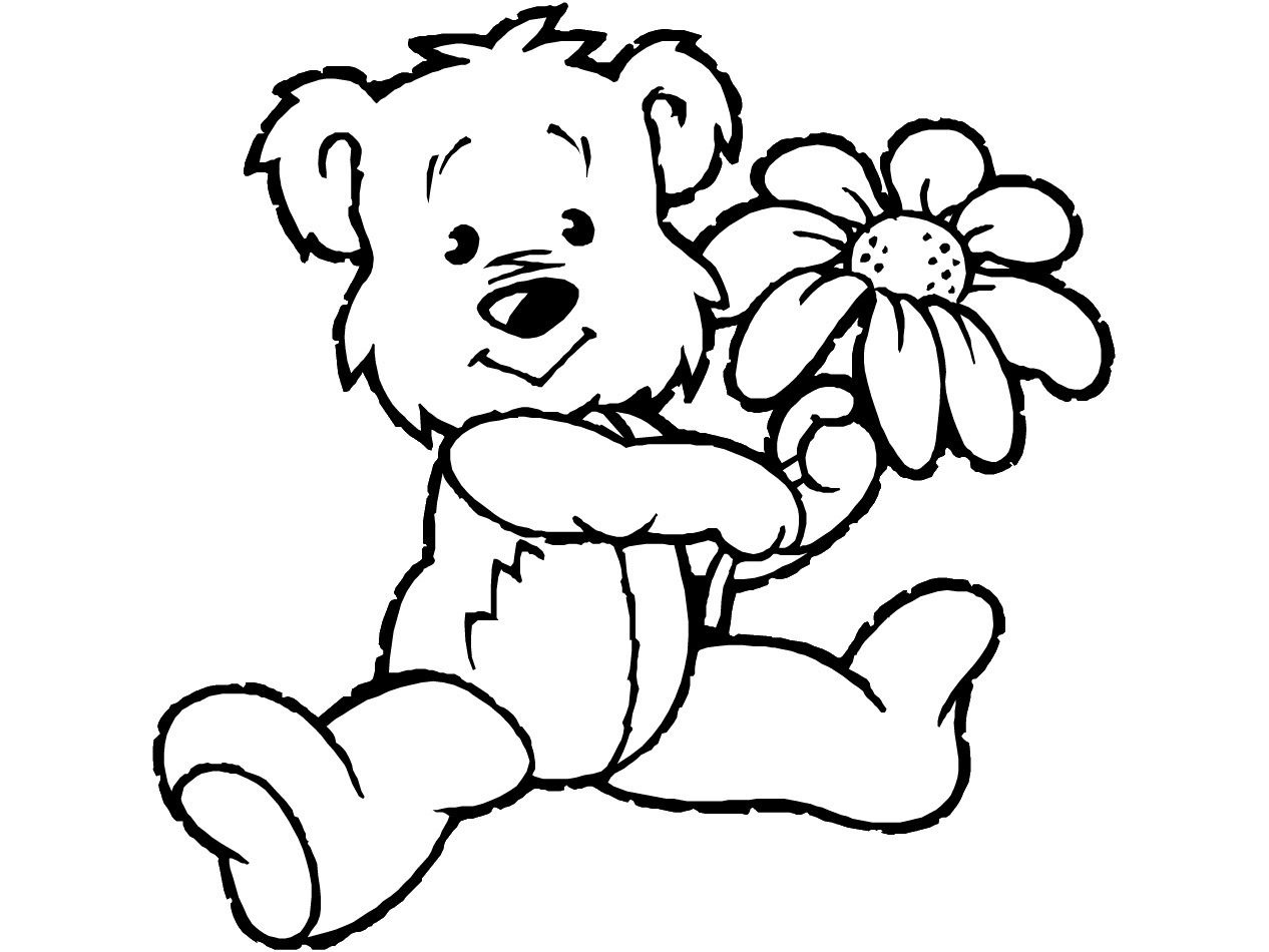 Teddy Bear Coloring Pages Theme   Free Printable Teddy Bear Coloring - Teddy Bear Coloring Pages Free Printable