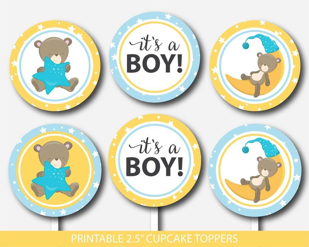 Teddy Bear Cupcake Toppers, Teddy Cupcake Toppers, Printable Cupcake - Free Printable Whale Cupcake Toppers