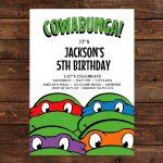 Teenage Mutant Ninja Turtles Birthday Party Invitations | Dolanpedia   Free Printable Tmnt Birthday Party Invitations