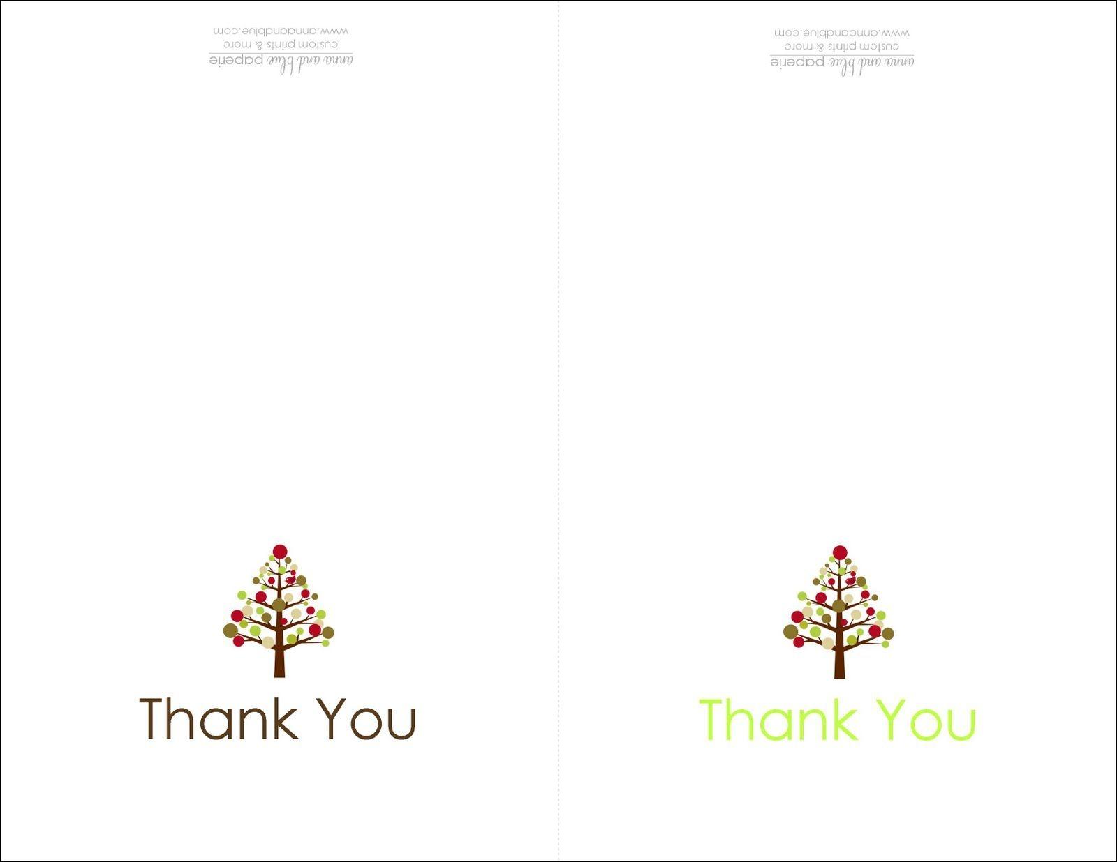Thank You Cards Printable | Printable | Free Printable Christmas - Free Printable Christmas Card Templates