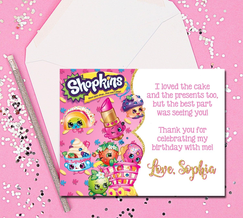 Thank You Cards Shopkins Thank You Cards Shopkins Thank You | Etsy - Free Printable Shopkins Thank You Cards