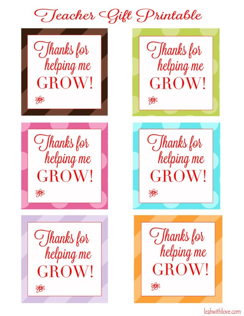 "Thank You For Helping Me Grow"" Free Printable Tags - Leah With Love - Free Printable Tags For Teacher Appreciation"