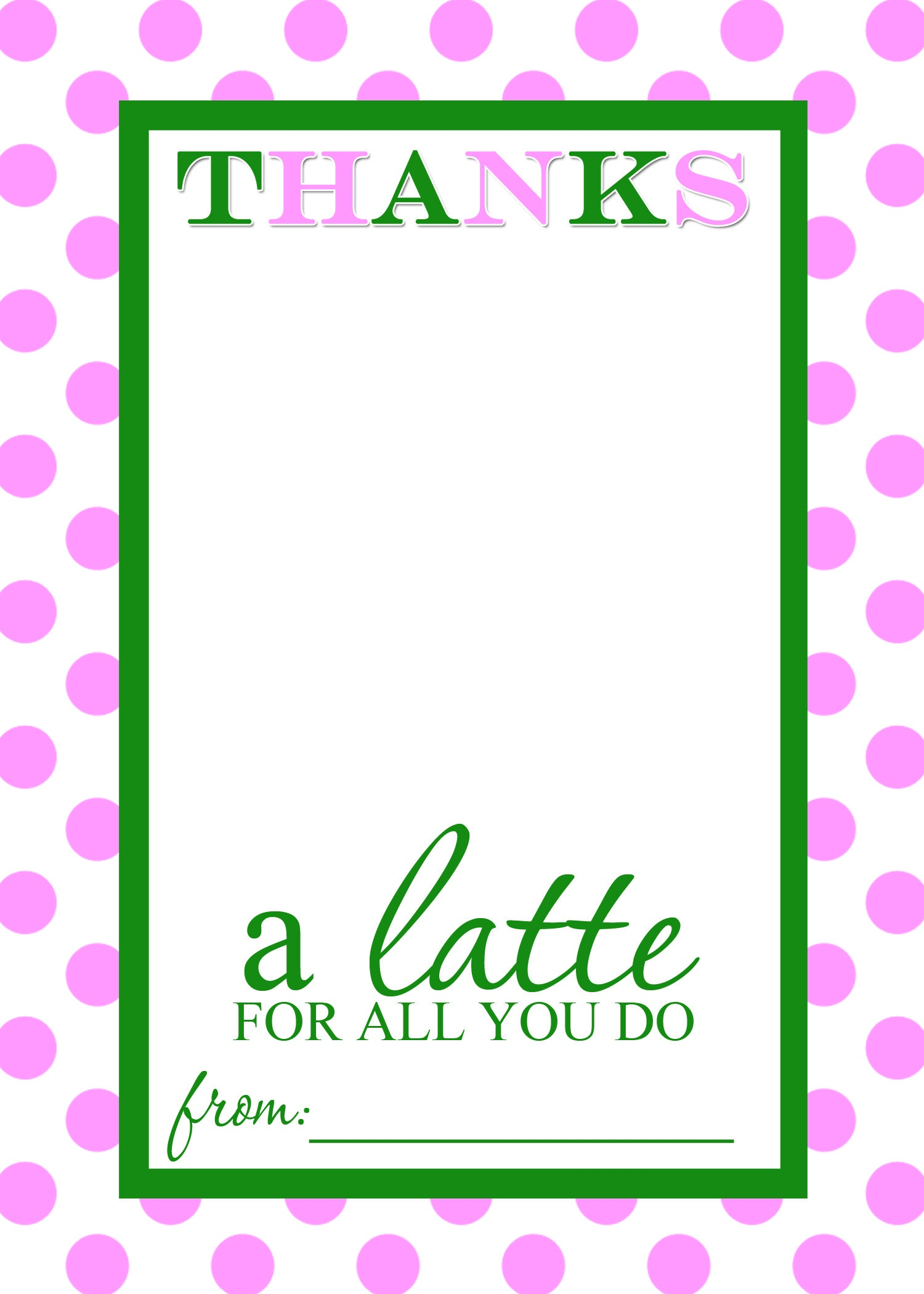 Thanks A Latte Free Printable Gift Card Holder Teacher Gift | Diy - Thanks A Latte Free Printable