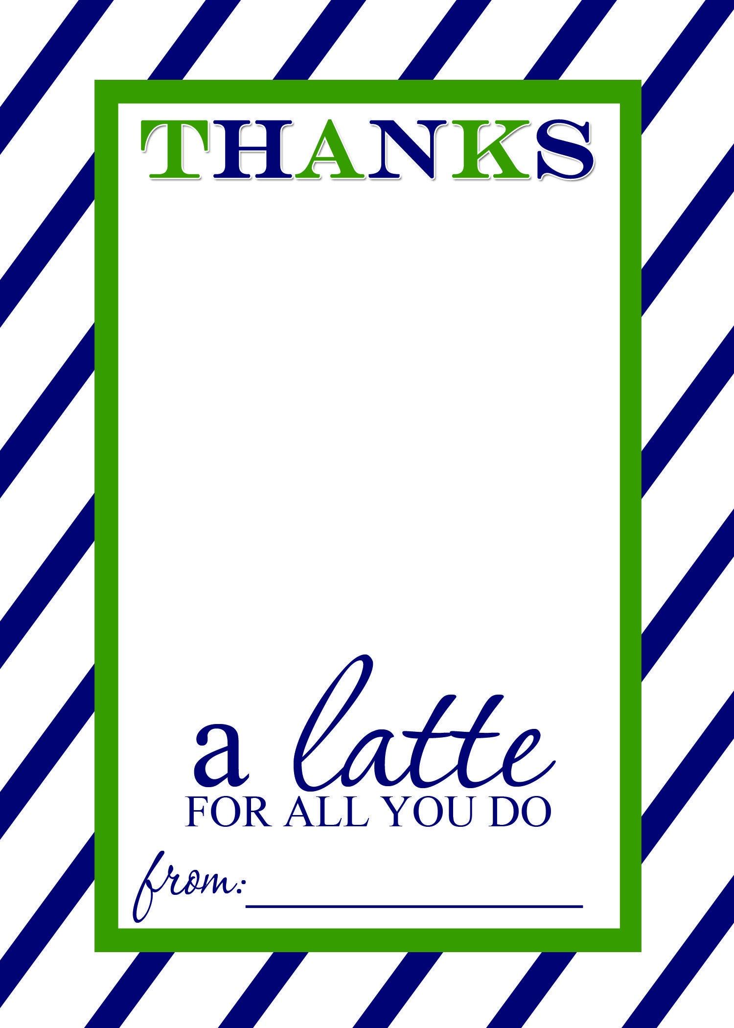 Thanks A Latte Free Printable Gift Card Holder Teacher Gift | Thank - Thanks A Latte Free Printable