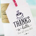 Thanks A Latte! Free Printable Gift Tags | Skip To My Lou – Thanks A Latte Free Printable Tag