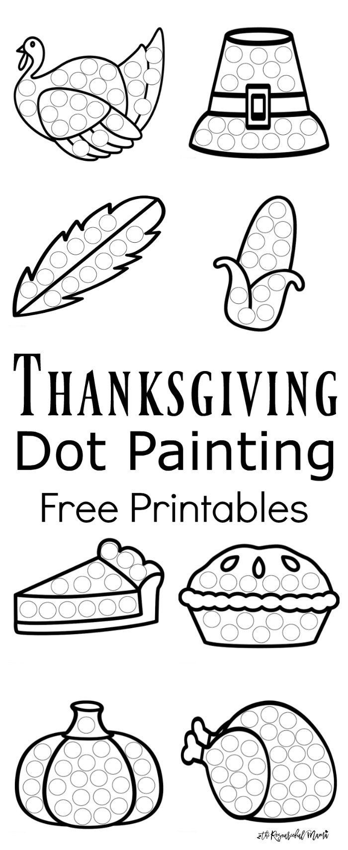 Thanksgiving Dot Painting {Free Printables} | Best Of Kids And - Free Printable Kindergarten Thanksgiving Activities