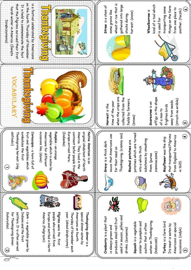Thanksgiving Minibook Worksheet - Free Esl Printable Worksheets Made - Free Thanksgiving Mini Book Printable