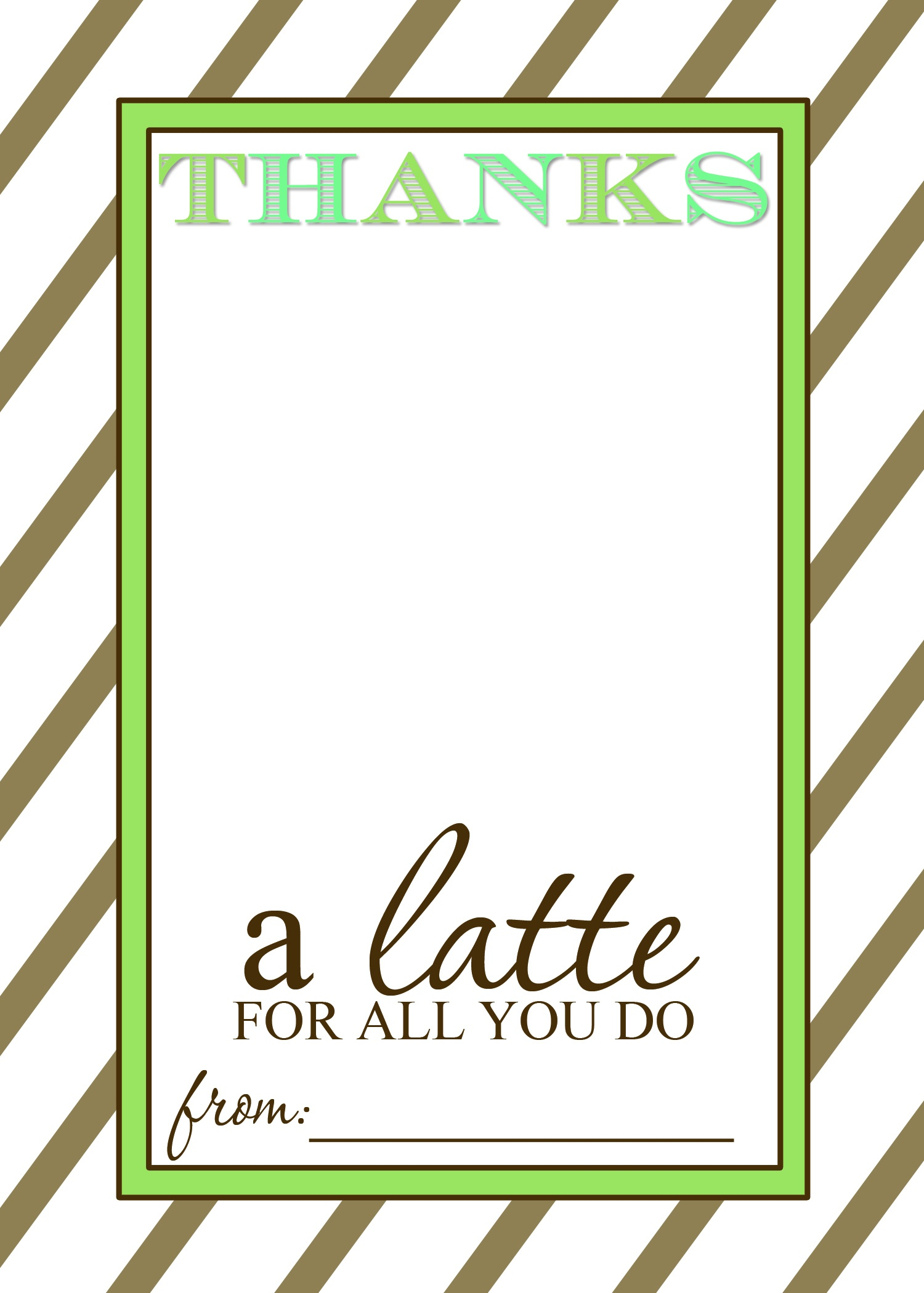 That's Country Living - Thanks A Latte Free Printable
