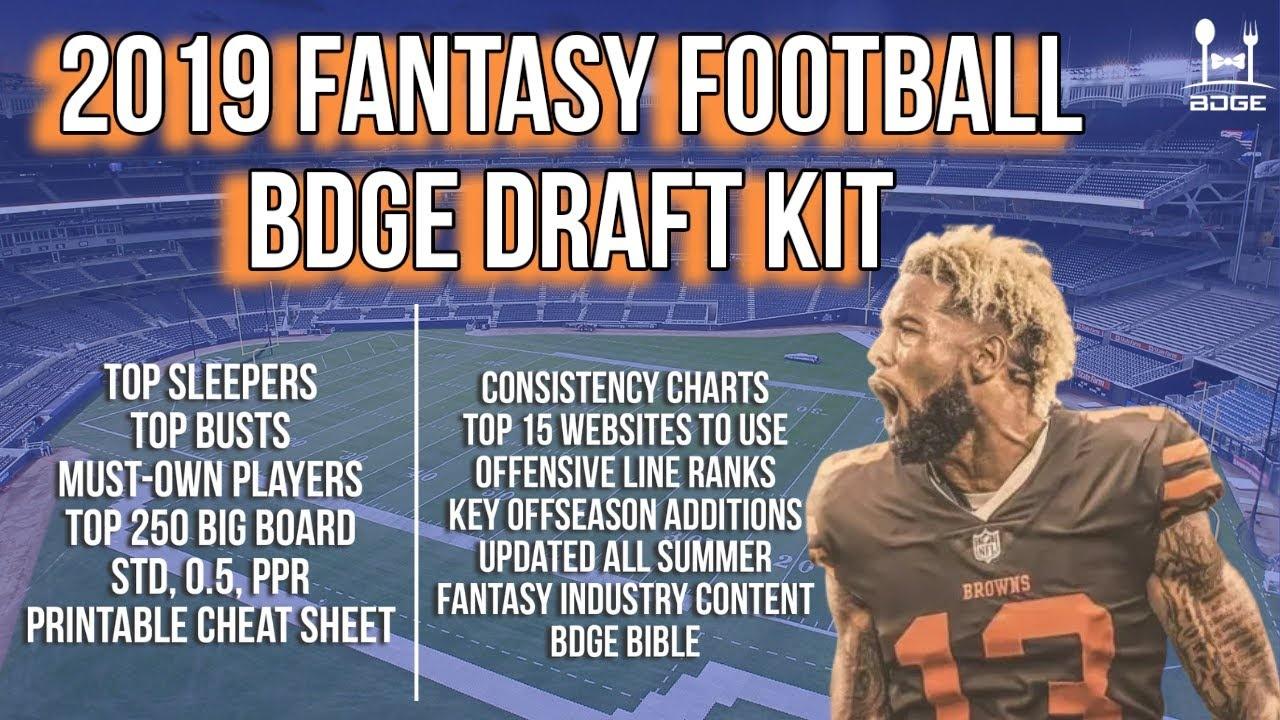 The 2019 Bdge Fantasy Football Draft Kit - Youtube - Free Fantasy Football Draft Kit Printable