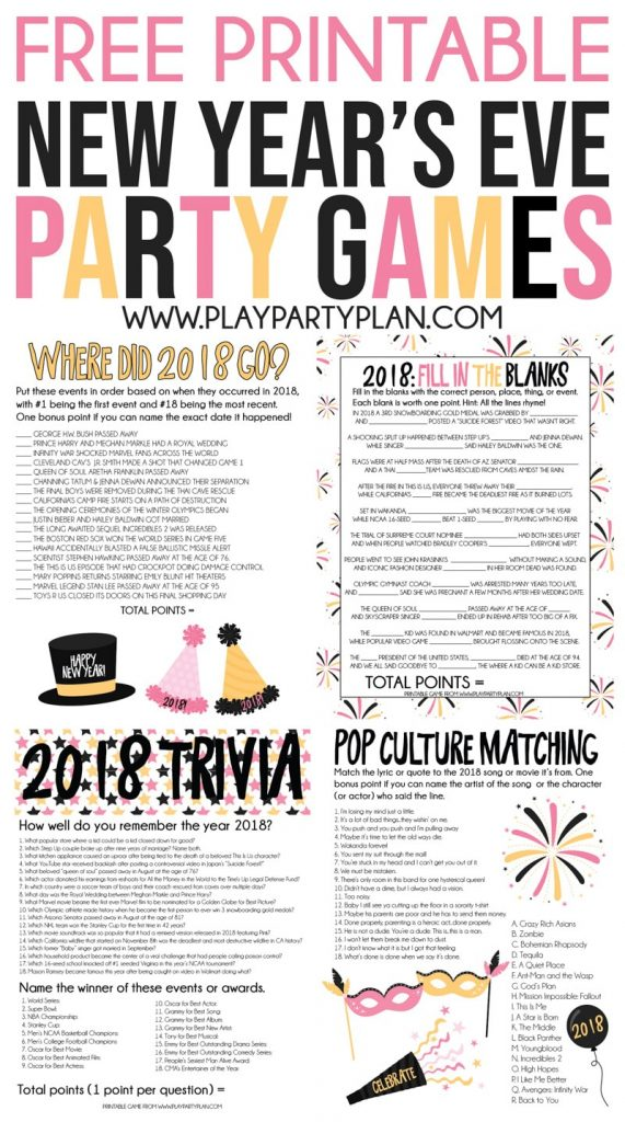 The Best 2018 New Year's Eve Games - Play Party Plan ...