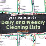 The Best Free Printable Cleaning Checklists   Sarah Titus   Free Printable Housework Checklist