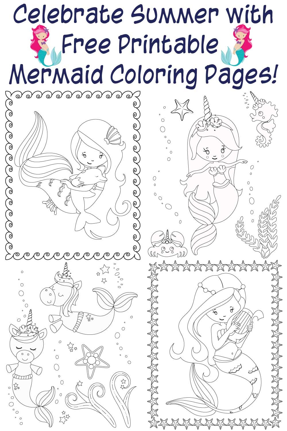 The Best Free Printable Mermaid Coloring Pages - The Artisan Life - Free Printable Pictures